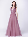 A-Line Deep V-Neck Long Evening Prom Dress Ep07455-Orchid 4