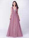 A-Line Deep V-Neck Long Evening Prom Dress Ep07455-Orchid 1