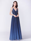 Deep V-Neck A-Line Long Evening Prom Dress Ep07468-Navy Blue 7