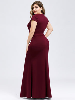 Ever-Pretty Women's Wavy V-neck Fishtail Party Dresses EP07623 (3950214348861)