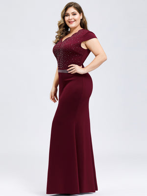 Ever-Pretty Women's Wavy V-neck Fishtail Party Dress EP07623