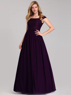 Ever-Pretty Women's A-Line Off Shoulder Floor-Length Bridesmaid Dress EP07868 (3776905445440)