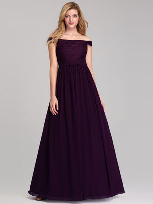 Ever-Pretty Women's A-Line Off Shoulder Floor-Length Bridesmaid Dress EP07868