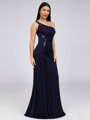 Ever-Pretty Women's One Shoulder Side Split Sequin Dress Evening Dresses EP07869