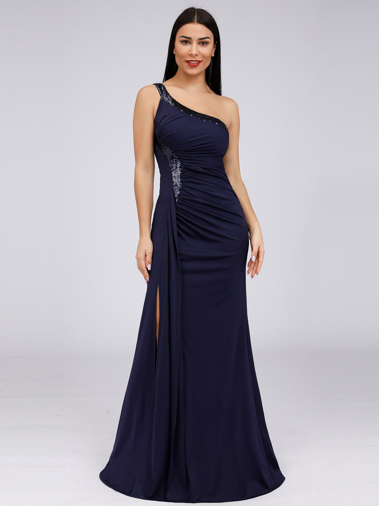 UK Ever-pretty One-shoulder Evening Split Prom Gowns Cocktail Bodycon Prom Gowns