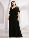 Women'S A-Line Off Shoulder Floor Length Bridesmaid Dresses Ep07871-Black 9