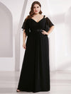 Women'S A-Line Off Shoulder Floor Length Bridesmaid Dresses Ep07871-Black 6