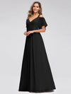 Women'S A-Line Off Shoulder Floor Length Bridesmaid Dresses Ep07871-Black 3