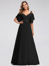 Women'S A-Line Off Shoulder Floor Length Bridesmaid Dresses Ep07871-Black 4