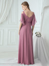 Women'S A-Line Off Shoulder Floor Length Bridesmaid Dresses Ep07871-Purple Orchid 7