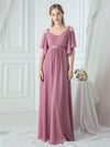 Women'S A-Line Off Shoulder Floor Length Bridesmaid Dresses Ep07871-Purple Orchid 9