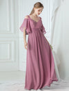 Women'S A-Line Off Shoulder Floor Length Bridesmaid Dresses Ep07871-Purple Orchid 6