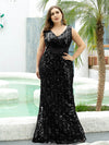 Mermaid Sequin Dresses For Women-Black  6