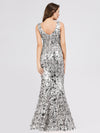 Mermaid Sequin Dresses For Women-Grey  2