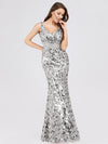 Mermaid Sequin Dresses For Women-Grey  4