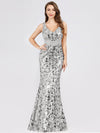 Mermaid Sequin Dresses For Women-Grey  1