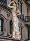 Mermaid Sequin Dresses For Women-Rose Gold  15