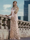 Mermaid Sequin Dresses For Women-Rose Gold  17