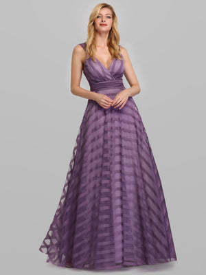 Ever-Pretty Women's Deep V-Neck A-Line Wedding Bridesmaid Dress EP07898
