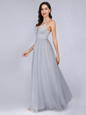 Ever-Pretty Backless Sexy V Neck Prom Dresses for Women EP07904