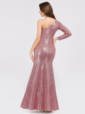 Ever-Pretty One Shoulder Sequins Bodycon Evening Party Maxi Dresses EP07926