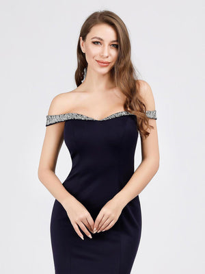 Ever-Pretty Women's Off Shoulder Bodycon Mermaid Dress Maxi Evening Dress EP07941 (3776202670144)