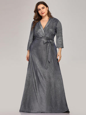 Ever-Pretty Plus Size Shiny Evening Dresses for Women EP07950