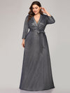 Plus Size Shiny Evening Dresses For Women Ep07950-Navy Blue 4