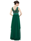 Elegant Sleeveless Round Neck Party Dresses Ep08217-Dark Green 3