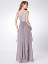 Elegant Sleeveless Round Neck Party Dresses Ep08217-Grey 2