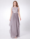Elegant Sleeveless Round Neck Party Dresses Ep08217-Grey 3