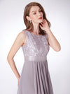 Elegant Sleeveless Round Neck Party Dresses Ep08217-Grey 4