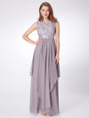 Elegant Sleeveless Round Neck Party Dresses Ep08217-Grey 1