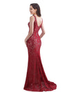 Women'S Elegant Sleeveless Long Evening Dress Ep08859-Burgundy 2