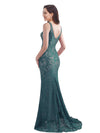 Women'S Elegant Sleeveless Long Evening Dress Ep08859-Dark Green 5