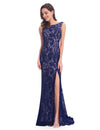 Women'S Elegant Sleeveless Long Evening Dress Ep08859-Navy Blue 1