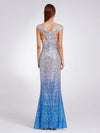 Women Elegantand Graceful Sequin Long Sparkle Evening Dresses Ep08999-Sky Blue 2