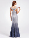 Women Elegantand Graceful Sequin Long Sparkle Evening Dresses Ep08999-Grey 2