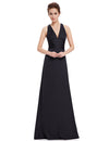 Elegant Sexy V-Neck Evening Dress Ep09008-Black 3