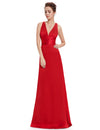 Elegant Sexy V-Neck Evening Dress Ep09008-Red 1