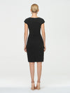 Women'S Stylish Square Neckline Sheath Wholesale Work Dress-Black 2