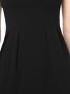 Women'S Stylish Square Neckline Sheath Wholesale Work Dress-Black 5