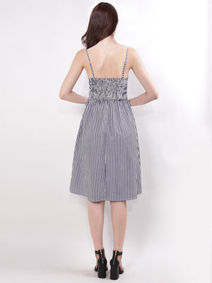 Ever-Pretty Short Women Stripes Spaghetti Straps Casual Dresses EZ03073