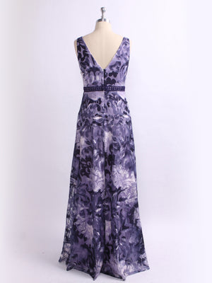Ever-Pretty Long Floral Printed Evening Party Dress EZ07520