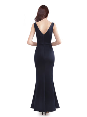 Ever-Pretty Women Fashion Mermaid Long Formal Evening Dress With Side Split EZ07531 (1985075675200)