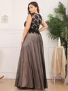 Elegant A Line Sleeveless Long Evening Dress With Appliques Ez07545-Blush 4