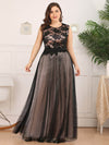 Elegant A Line Sleeveless Long Evening Dress With Appliques Ez07545-Blush 6