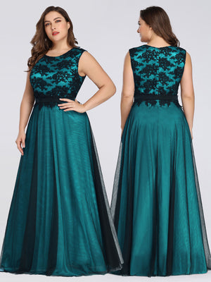 Ever-Pretty  Elegant A Line Sleeveless Long Evening Dress With Appliques EZ07545