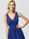 Elegant A Line V Neck See Through Long Bridesmaid Dress Ez07645-Sapphire Blue 5