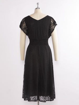 Ever-Pretty Short Black Lace Cocktail Dresses EZ07654